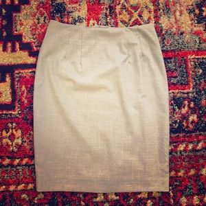 H&M Light Grey Pencil Skirt